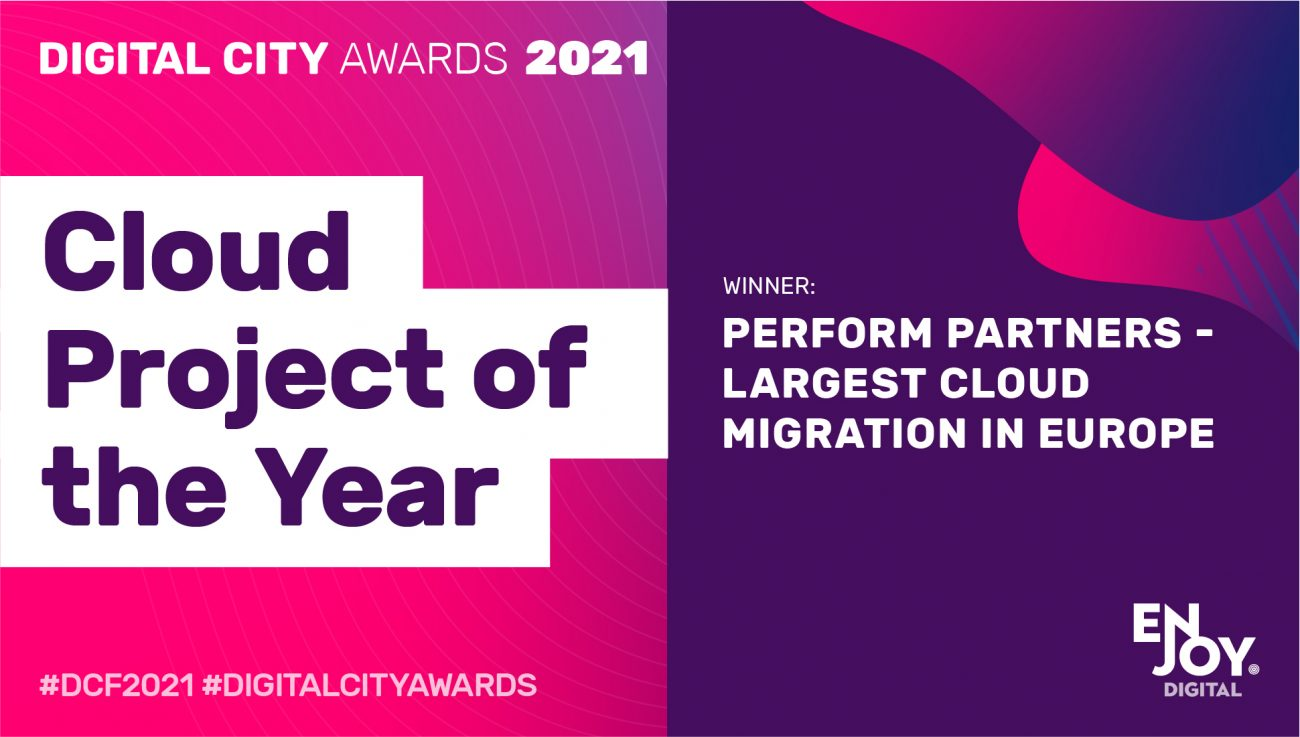 Perform Partners winners of the Cloud Project of the Year Award