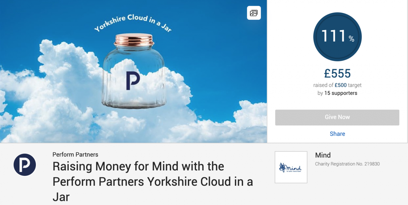 Perform Partners Just Giving Fundraising Page